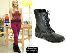 Olivia Holt wears these Steve Madden Troopa Boots designing her Sweet 16 cake at Charm City Cakes on July the 5th in West Hollywood, California.