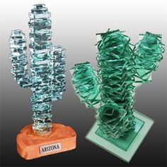 Arizona Glass Cactus - Almost got Thomas for a gift from Sedona. Still want one! $$ Different price for different pieces
