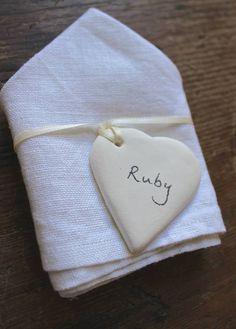 Diy Personalised White Ceramic Hearts