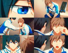 Awww, this was a really sweet moment. Swimming Anime, Splash Free, Makoharu, Free Iwatobi Swim Club, Clannad, Best Waifu, Manga Boy, Awesome Anime, Mikasa