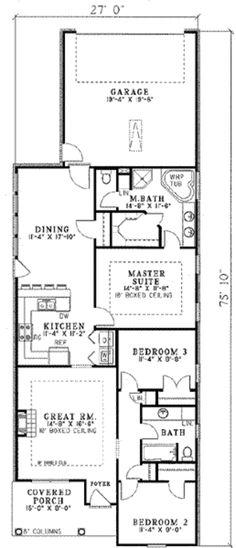 Houseplans.com Main Floor Plan Plan #17-1099