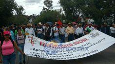La inmensa mayoría de los participantes eran integrantes de la Sección XVIII de la Coordinadora Nacional de Trabajadores de la Educación (CNTE), mientras que la presencia de los otros sindicatos ...