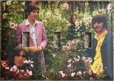 Beatles In the Garden Switch Plate Cover Triple - for my livng room!