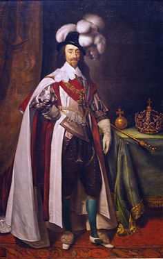 Daniel Mytens, Charles I in Coronation Robes, 1633, English
