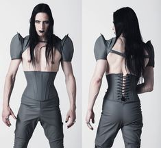 Men's PVC underbust corset made by Artifice Clothing, $105 | Corsets for Men on Lucy's Corsetry