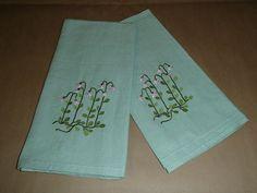 Set of 2 Scandinavian Swedish Linnea Flower Dish Towels #705404 #MK