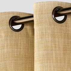 "Textured Weave Window Curtain Panel Wheat (54""x108"") - Threshold"