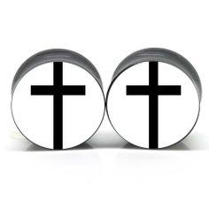 Black Cross Ear Plugs