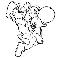 49 Best super mario yoshi coloring pages images | Coloring pages for ...