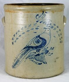 .Pottery Auction, Waasdorp, Clarence NY, featuring Decorated Stoneware