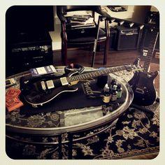Stephen doing work on his #PaulReedSmith #guitars #theupsetvictory