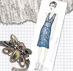 Beads, glitter, swinging hemline, glamour!