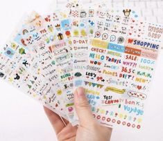 Lijstje lievelings - stickers!   Bulletjournal.nl Cartoon Stickers, Kawaii Stickers, Cute Stickers, Japanese Stationery, Kawaii Stationery, Korean Stationery, Scrapbook Stickers, Scrapbook Albums, Pvc Transparent