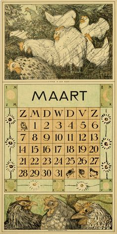 Theodoor van Hoytema, calendar 1915 March