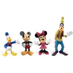 Disney > Mickey and Friends - Donald Duck, Mickey, Minnie Mouse, and Goofy Figure Set Multi-Colored
