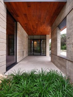 The use / placement of wood in this home is gorgeous, in addition to metal, stone and glass!  I think this is stunning!  Texas Hill Country Residence