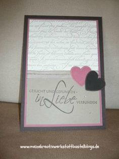 Stampin up, Hochzeitskarte