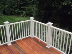 white aluminium railing for balcony of holiday place - almost zero maintenance