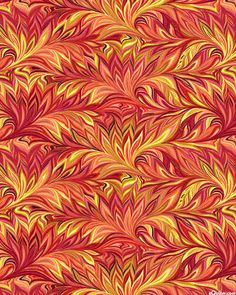 Botanica III - Marbled Feather - Dk Coral