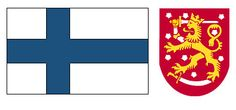 This is The Finland Flag. The dragon with the sword shows how they fought for their land and take pride in it. They have won and lost many battles and this represents that struggle.