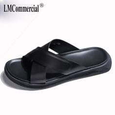 0ec17601dd Playa de los hombres sandalias de verano zapatillas hombres Flip Flops  casual zapatos al aire libre