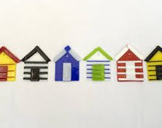 Image result for fused glass beach huts