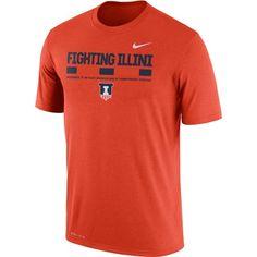 huge discount 8d5b7 26a36 Nike Men s Illinois Fighting Illini Orange Football Staff Legend T-Shirt