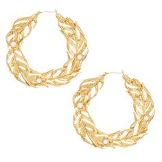 Sweeping Feathers Hoop Earrings  To purchase visit my website: https://www.chloeandisabel.com/boutique/moniquejohnson
