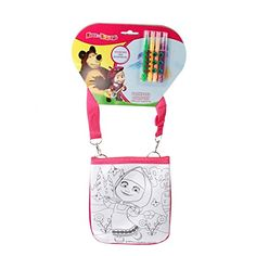 RusToyShop Bag for painting Paint handbag Preschool Backpack Masha and the Bear Baby Bag Small Backpack Kids Bag Girl Cute Backpack Kindergarten for Baby Gray Little Girl Pink ** You can find more details by visiting the image link.Note:It is affiliate link to Amazon.
