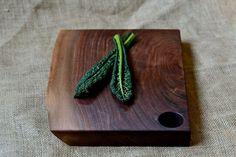 Natural Edge Salvaged Black Walnut Wood Cutting Board $76