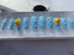 Bubble Bath Press on Nails 3D Rubber Duck with Pearls and | Etsy Duck Nails, Bubble Nails, Gel Nails, Nail Polish, Nails Only, Kawaii Nails, Crazy Nails, Japanese Nails, Bubble Bath