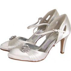 Mariella Satin Open Waist Court Shoes
