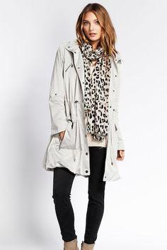 Mint Velvet Oyster Hooded Parka | 10 Best Raincoats | Camille Styles