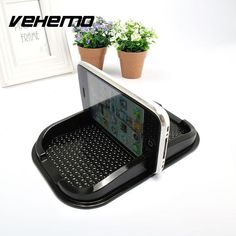 Vehemo Auto Car Universal Anti Slip Pad Rubber Mobile Sticky Stick Dashboard Phone Mount Holder For GPS MP3 Stand