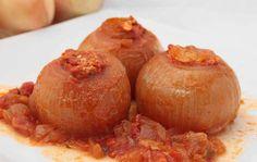Cebollas Rellenas (por El Teixo) #receta #recipe #Gastronomía #Gastronomy #Asturias #ParaísoNatural #NaturalParadise #Spain