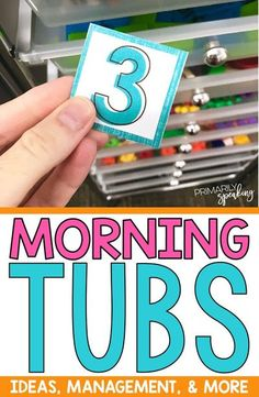 Morning tubs are by far my most favorite morning routine of all time. For ideas on what to place in your morning tubs, and how to manage it all, you must read this post! I just love how the tubs are filled and rotated. Such a great space saving idea! #morningtubs #morningroutine #morningwork
