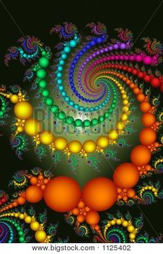 Bright Colored Beads Abstract