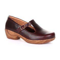 Rocky 4EurSole Comfort 4Ever Women's T-Strap Clogs, Brown