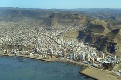 La bella ciudad de Comodoro Rivadavia, Chubut, Argentina