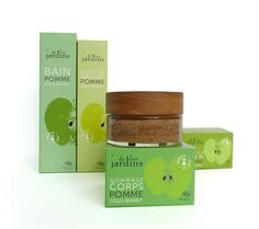 De Nos Jardins by Agence Halley des Fontaines, packaging, cosmetics, green apple, soap