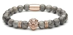 Rose Gold Lion - Grey Jasper