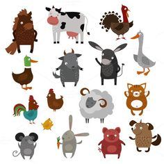 Farm animals pets vector. $5.00