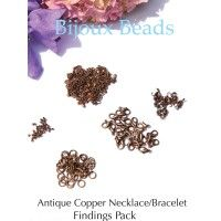Antique Copper Necklace/Bracelet Findings Pack