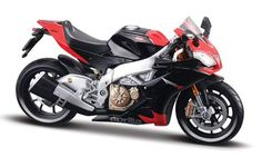 Maisto 1:12 Aprilia RSV4 Diecast Model Motorcycle Kit - 39183 This Aprilia RSV4 Factory Diecast Model Motorcycle Kit is Red and Black and features working stand, steering, wheels. This model kit made by Maisto requires assembly and is 1:12 scale (approx. 15cm / 5.9in long). No paint or glue required, screwdriver included. #Maisto #ModelMotorbike #Aprilia