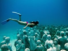 Underwater Museum, Cancun, Mexico.