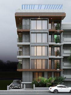 Ideas apartment building exterior facades architecture for 2019 Residential Building Design, Modern Residential Architecture, Architecture Résidentielle, Building Exterior, 3d Building, Building Ideas, Le Riad, Modern Apartment Design, Facade Design