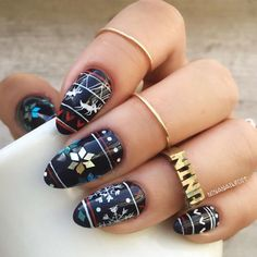 Holiday nail art tends to include the symbols of particular holidays. Which attribute of Christmas is your favorite?