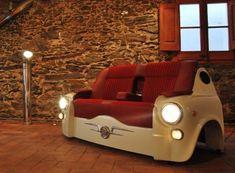 repurposed furniture  | repurposed car sofa When Cars are Repurposed as Furniture and Flower ...
