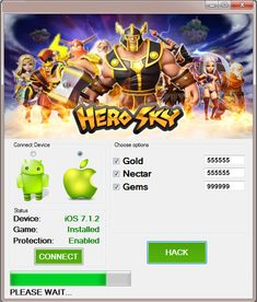 Hello! We are pleased to announce that Hero Sky Epic Guild Wars Hack Tool has been finally created as latest version of those cheats. This extension has the best security system which makes this tool completely safe and undetectable in the internet. Download it for free from the links below and use its features. Hero