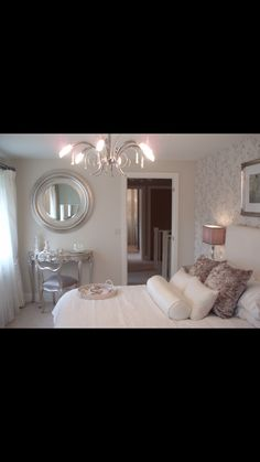 If you've ever visited a Show-Home you'll have noticed how much effort the designers go to when planning and decorating the Master bedroom. Home Bedroom, Master Bedroom, Bedroom Ideas, Bedrooms, Modern Bedroom Design, Spare Room, My Dream Home, Wall Lights, House Styles